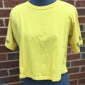 """Living the Dream"" Yellow crop top"